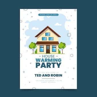 Tema modello per invito festa inaugurazione della casa