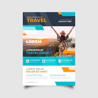 Template theme for traveling poster