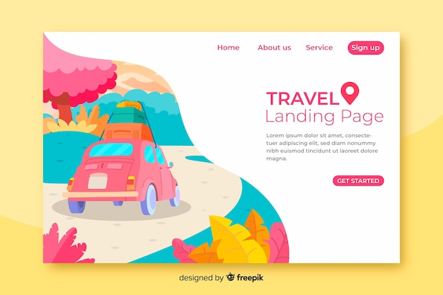 Template travel landing page