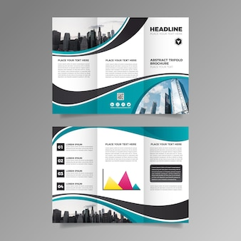 Template for trifold brochure concept