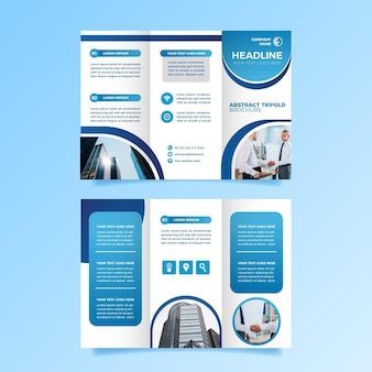 Template for trifold brochure design