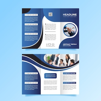 Template for trifold brochure style