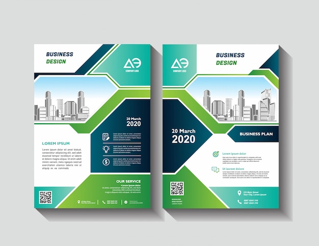 Template vector design for brochure annual report magazine poster corporate presentation