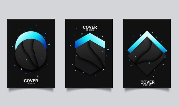 Template vector design for brochure