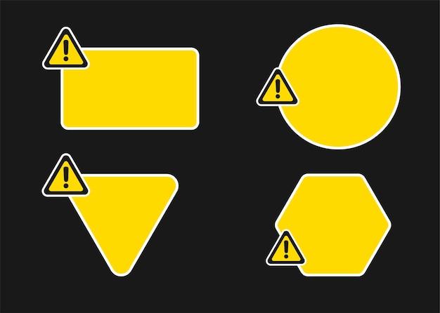 Шаблон предупреждающий знак.