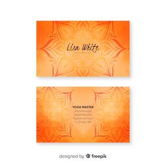 Template watercolor mandala business card