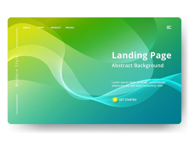 Template for web landing page, banner, presentation