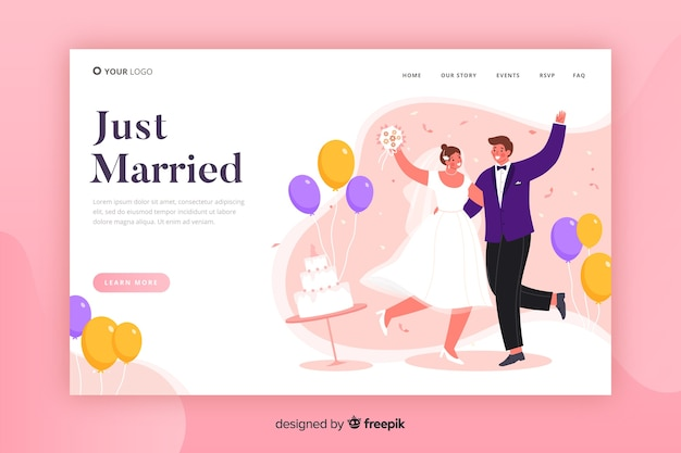 Template wedding landing page
