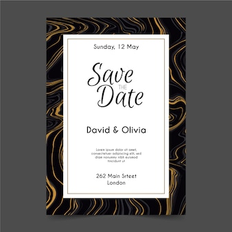 Template wedding marble card