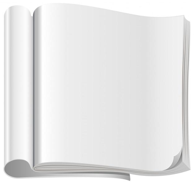 Template white open magazine