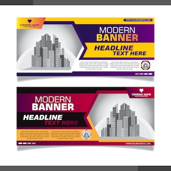 Template of white web banners