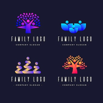 Template with abstract family logo
