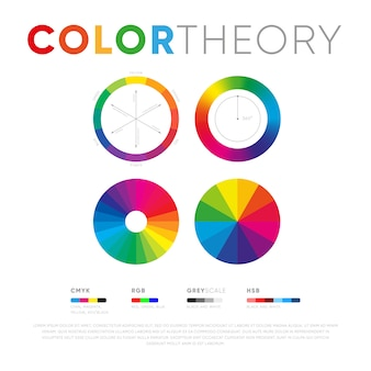 Template with circles of color theory