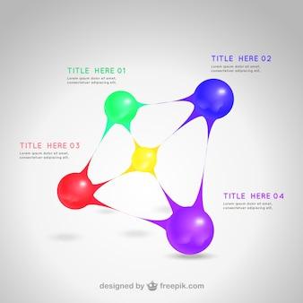 Шаблон с цветными сферах