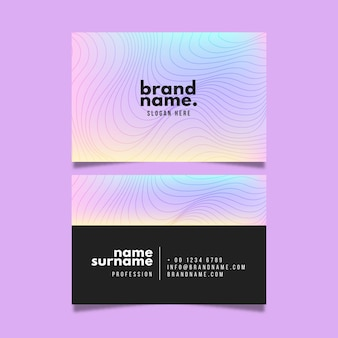 Template with distorted lines for business cards