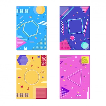 Template with geometric abstract elements.