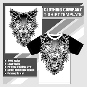 Template with head wolf