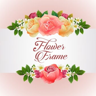 Template with rose florish theme