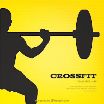 Template with yellow background for crossfit