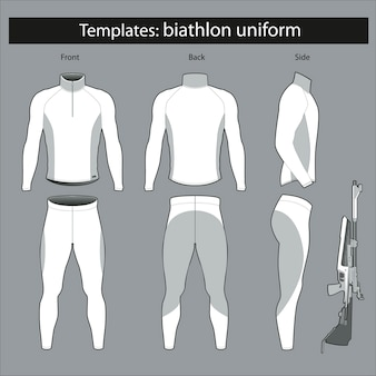 Templates: biathlete form