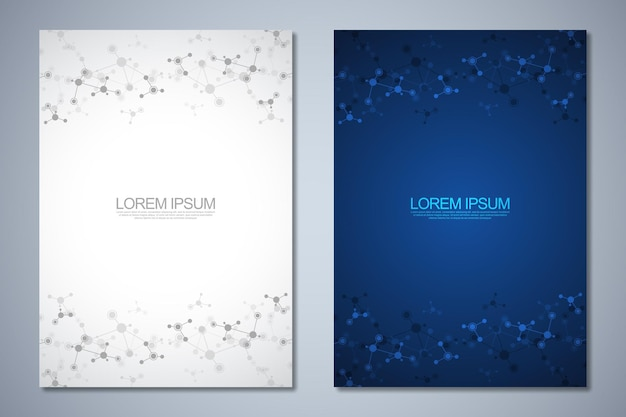 Templates brochure or cover book page layout flyer design