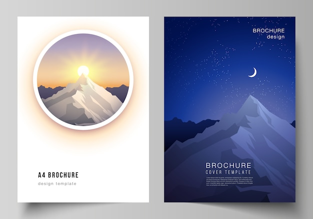 Templates for brochure, magazine, flyer, booklet. travel concept background.