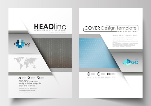 Templates for brochure, magazine, flyer, booklet.