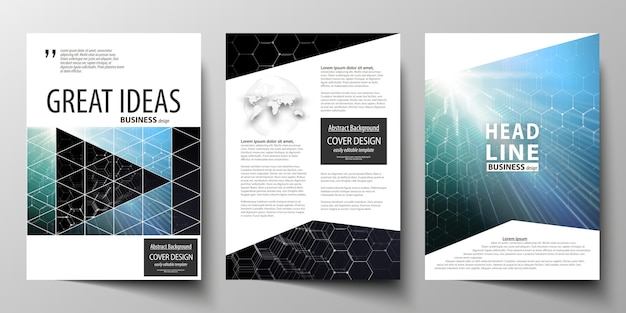 Templates for brochure, magazine, flyer or report.