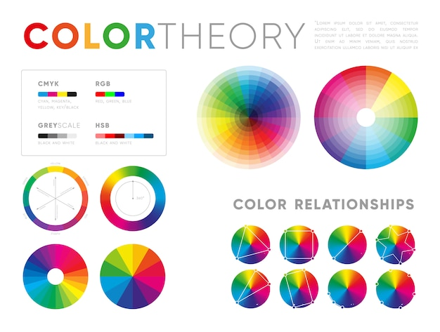 Templates of color theory presentations