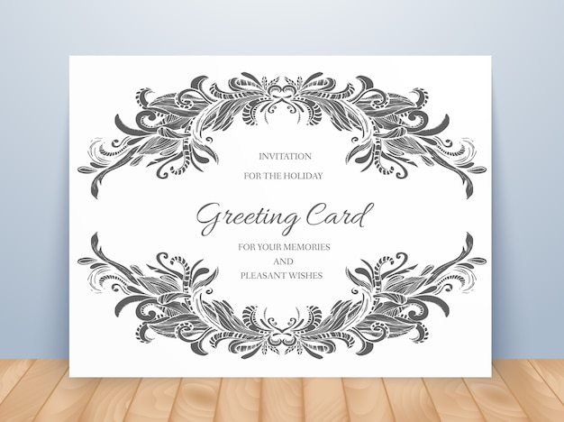 Templates of corporate identity set with doodles abstract ornament