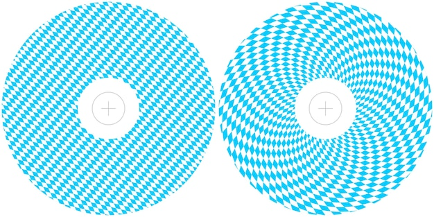 Templates for design of oktoberfest . round printing layouts of blue and white bavarian flag for cd and dvd covers.
