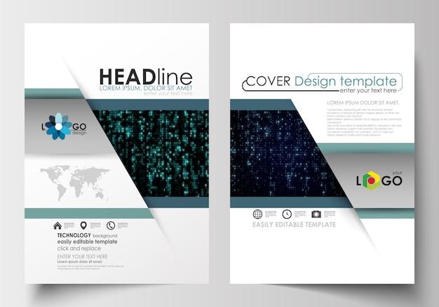 パンフレット、雑誌、チラシ、小冊子のためのテンプレート。表紙デザインテンプレート