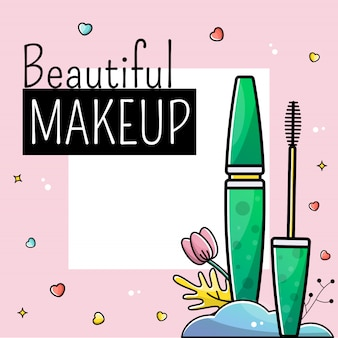 Templates post instagram makeup cosmetics card