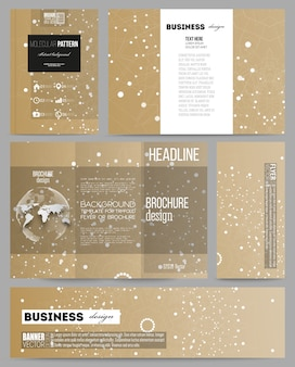 Templates for presentation, brochure, flyer, booklet