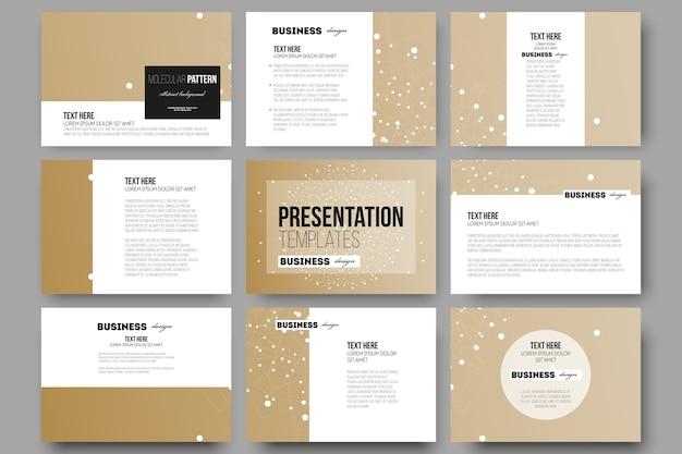 Templates for presentation slides