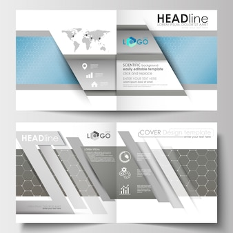 Templates for square brochure, magazine, flyer, booklet