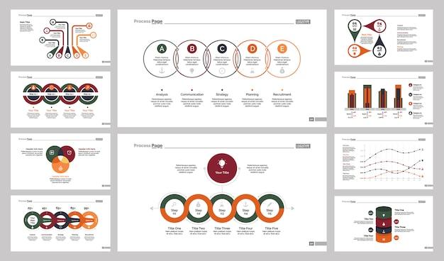 Ten accounting slide templates set