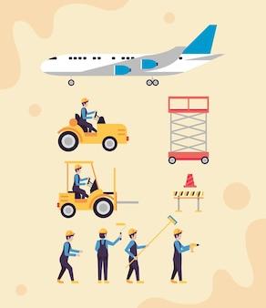 10の空港業界のアイコン
