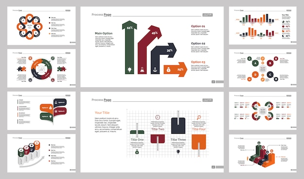 Ten analysis slide templates set
