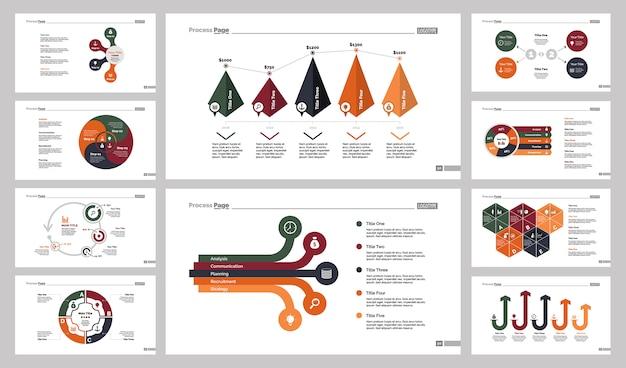 10 가지 분석 슬라이드 템플릿 세트