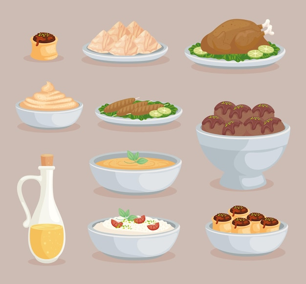 Ten arabic foods