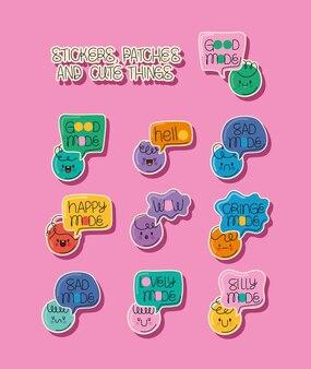 10개의 귀여운 스티커