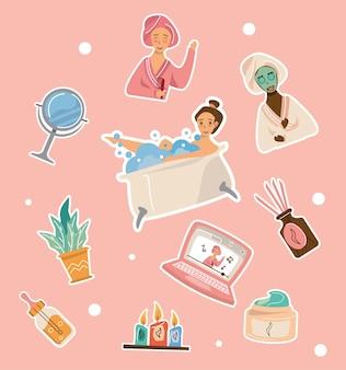 Ten home spa icons