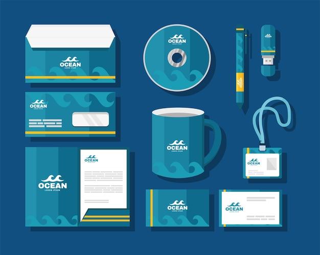 Ten identity brand icons