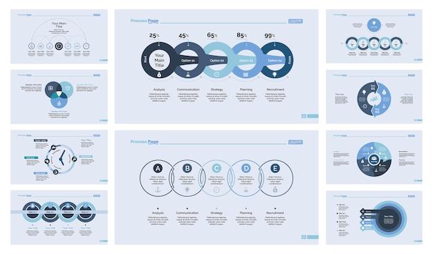 10 가지 관리 슬라이드 템플릿 세트
