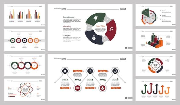 Ten marketing slide templates set