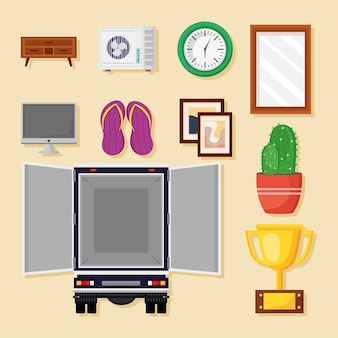 Ten moving house icons