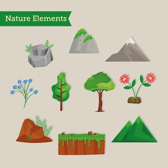 10 자연 장면 클립 아트 세트