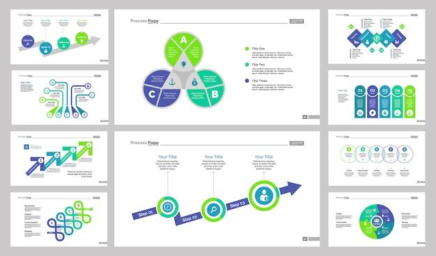 Ten planning slide templates set