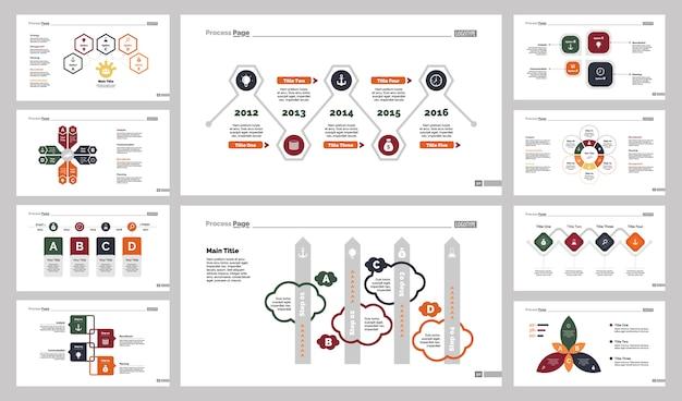 10 개의 계획 슬라이드 템플릿 세트